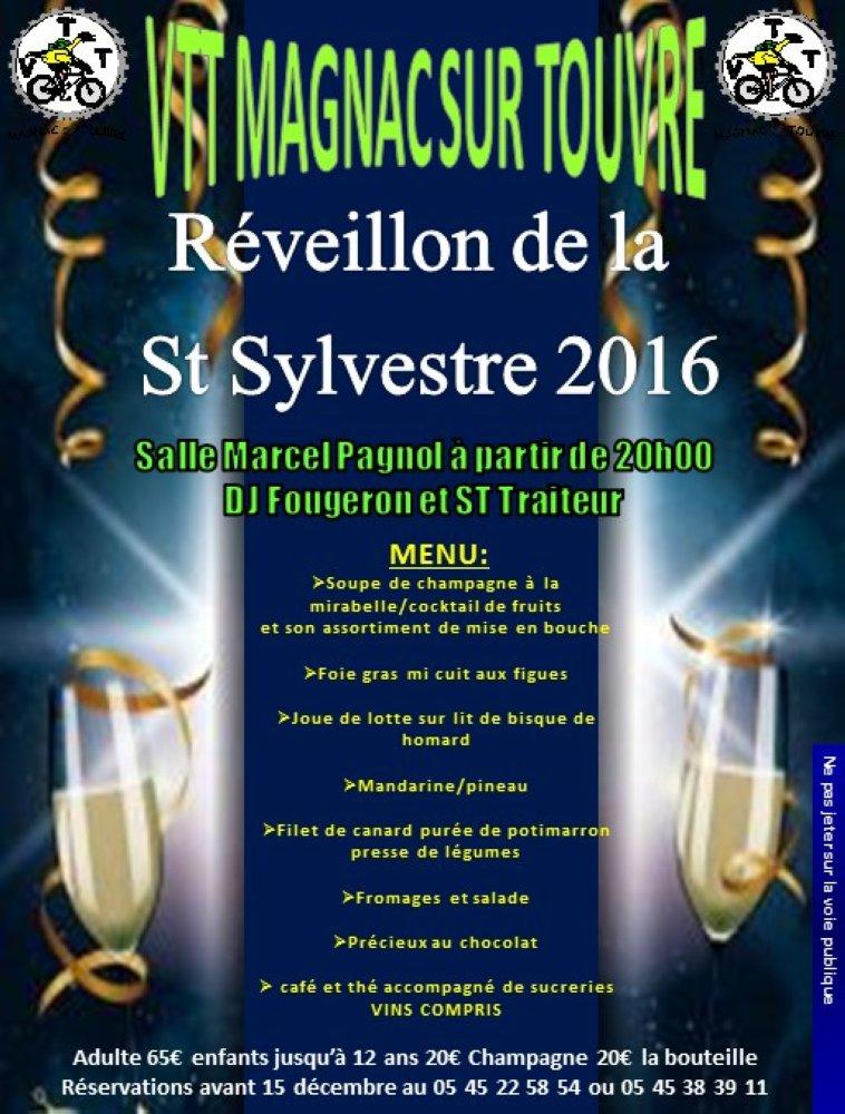 Reveillon St Sylvestre Magnac sur Touvre